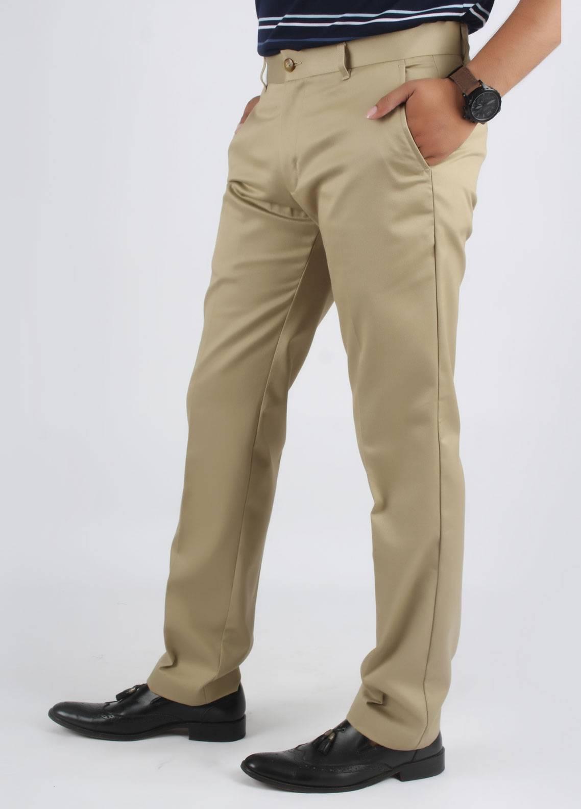 Bien Habille Cotton No-Iron Men Trouser -  Smart Fit Constalk Pride