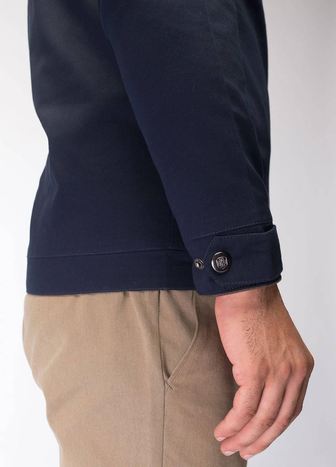 Brumano Cotton Full Sleeves Jackets for Men - Navy Blue BRM-11-0016