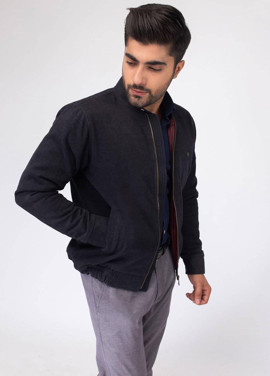 Brumano Cotton Full Sleeves Jackets for Men - Black BRM-11-0692