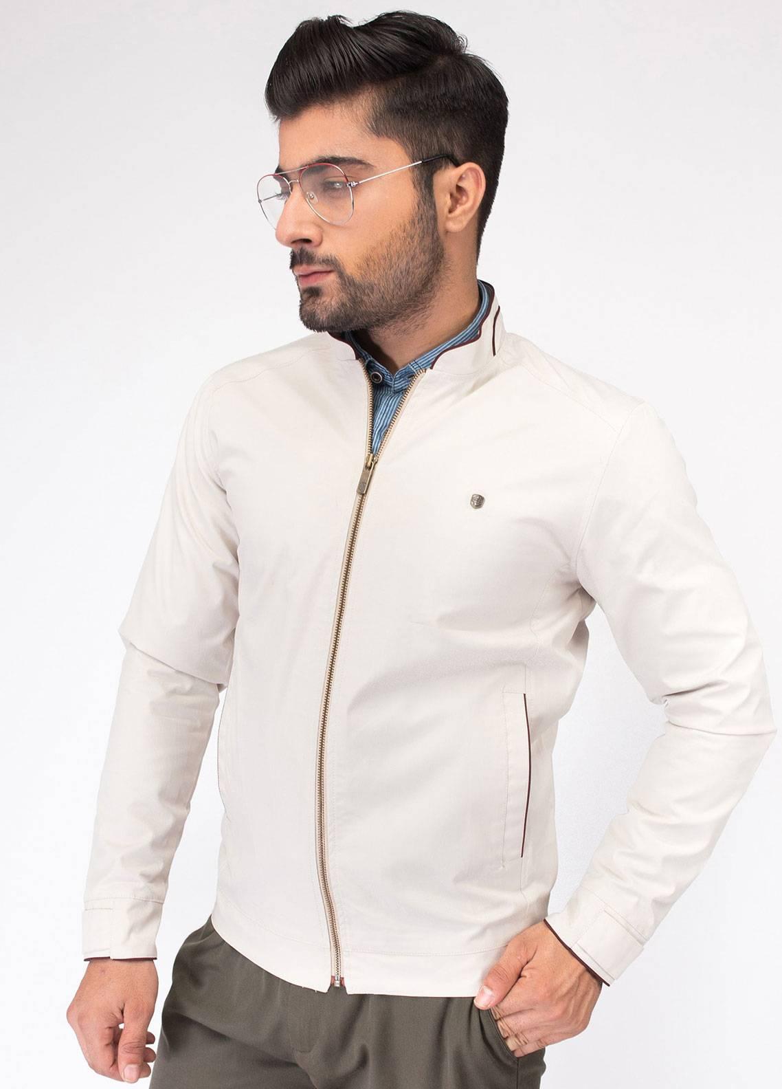 Brumano Cotton Full Sleeves Jackets for Men - White BRM-11-741