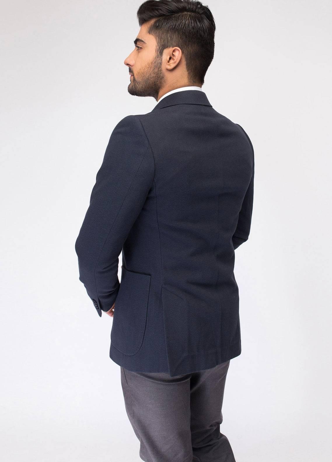 Brumano Cotton Casual Blazer for Men - Navy Blue BLZ-502