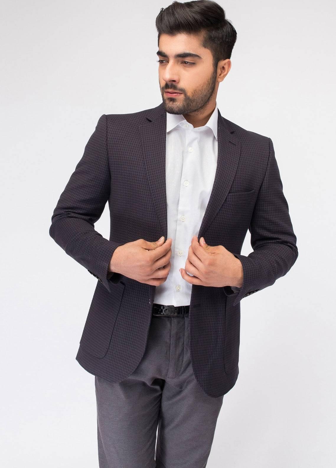Brumano Cotton Casual Blazer for Men - Grey BLZ-507