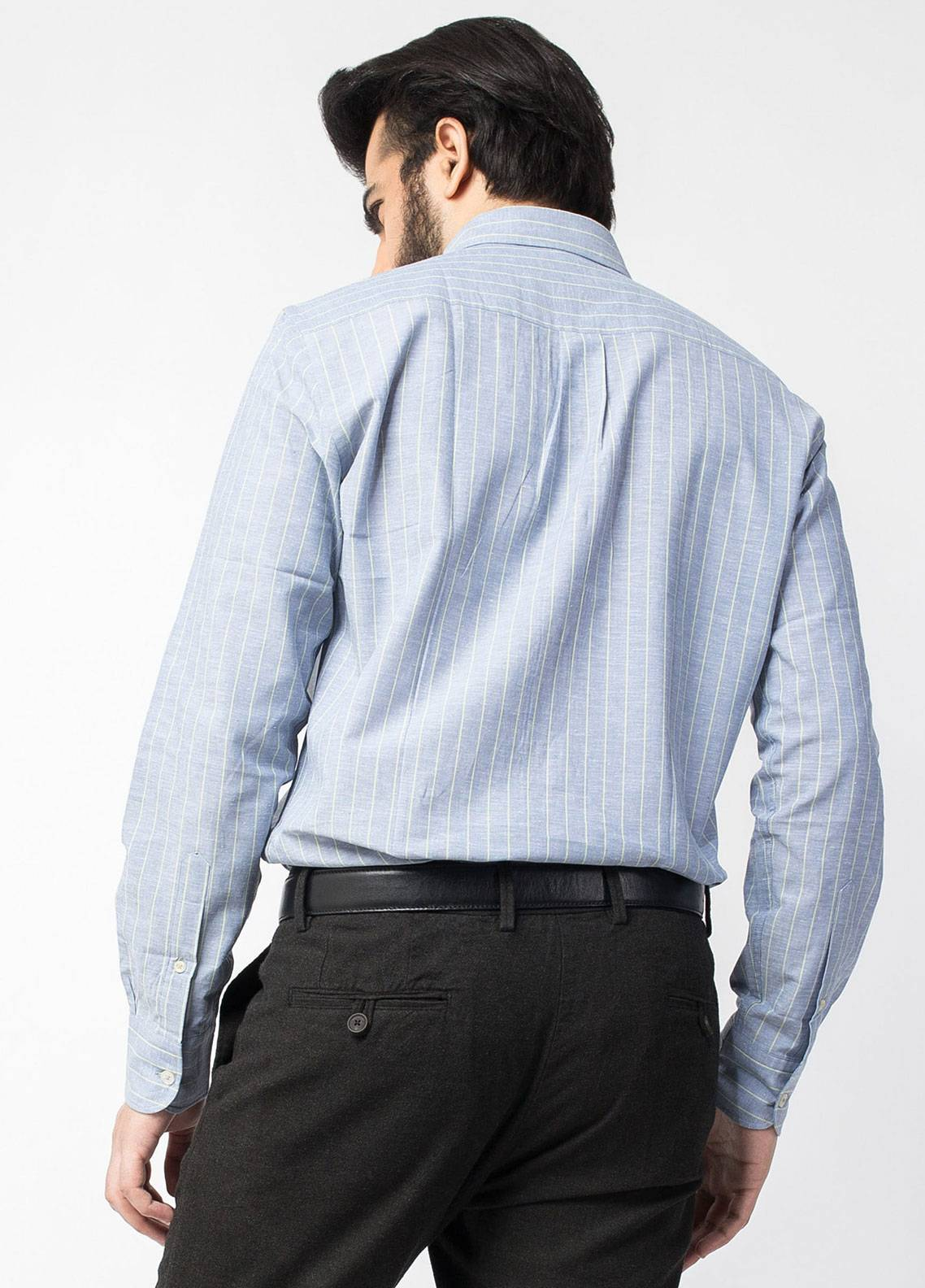 Brumano Cotton Formal Shirts for Men   Blue BRM 446