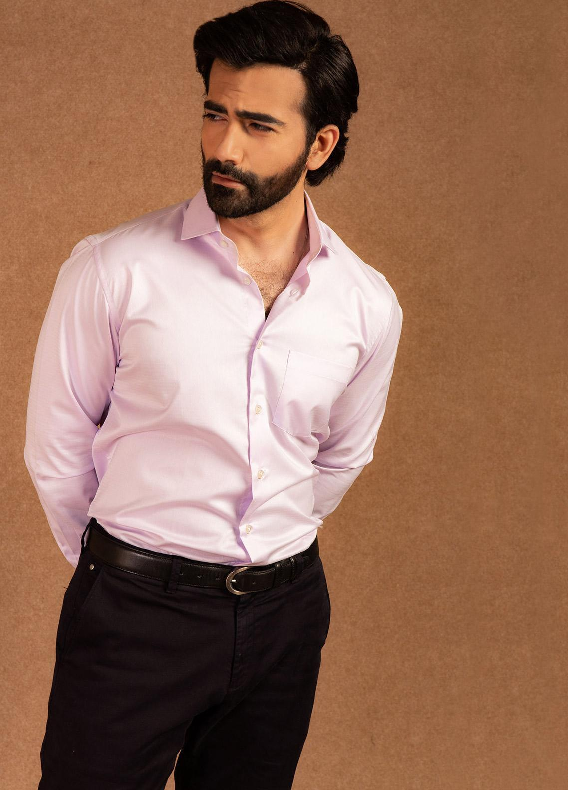 Brumano Cotton Formal Men Shirts - Pink BRM-682