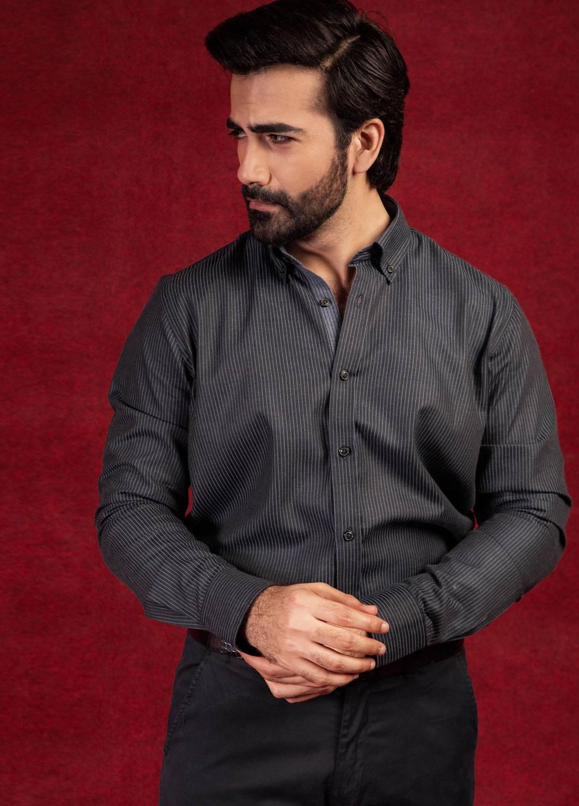 Brumano Cotton Formal Men Shirts - Black BRM-752