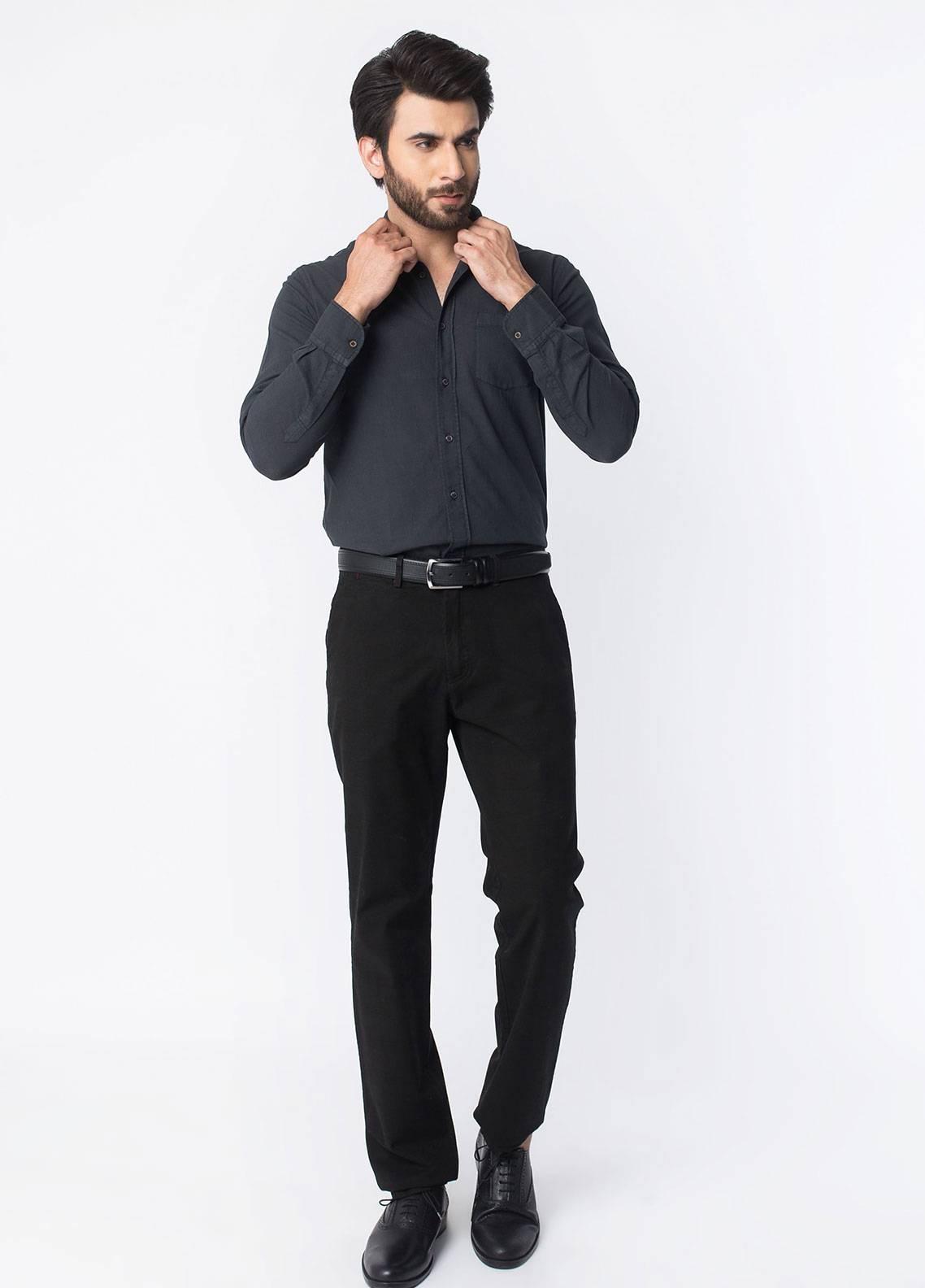 Brumano Cotton Formal Men Trousers -  BRM-50-007-Black