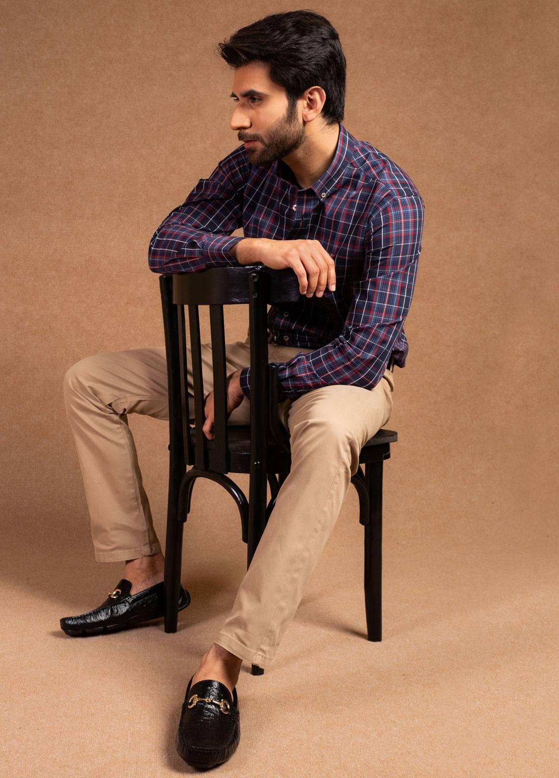 Brumano Cotton Formal Men Pants -  BRM-555-Khaki