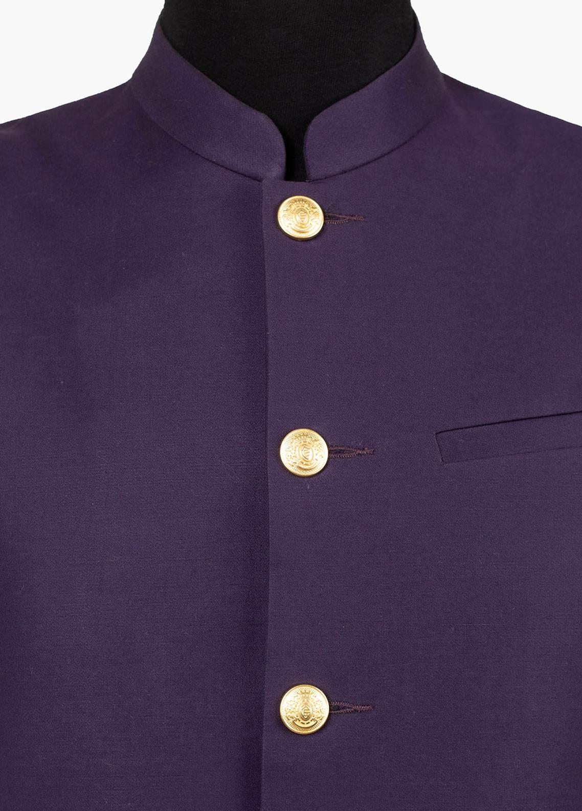 Brumano Cotton Formal Men Waistcoat - Purple BRM-511-B