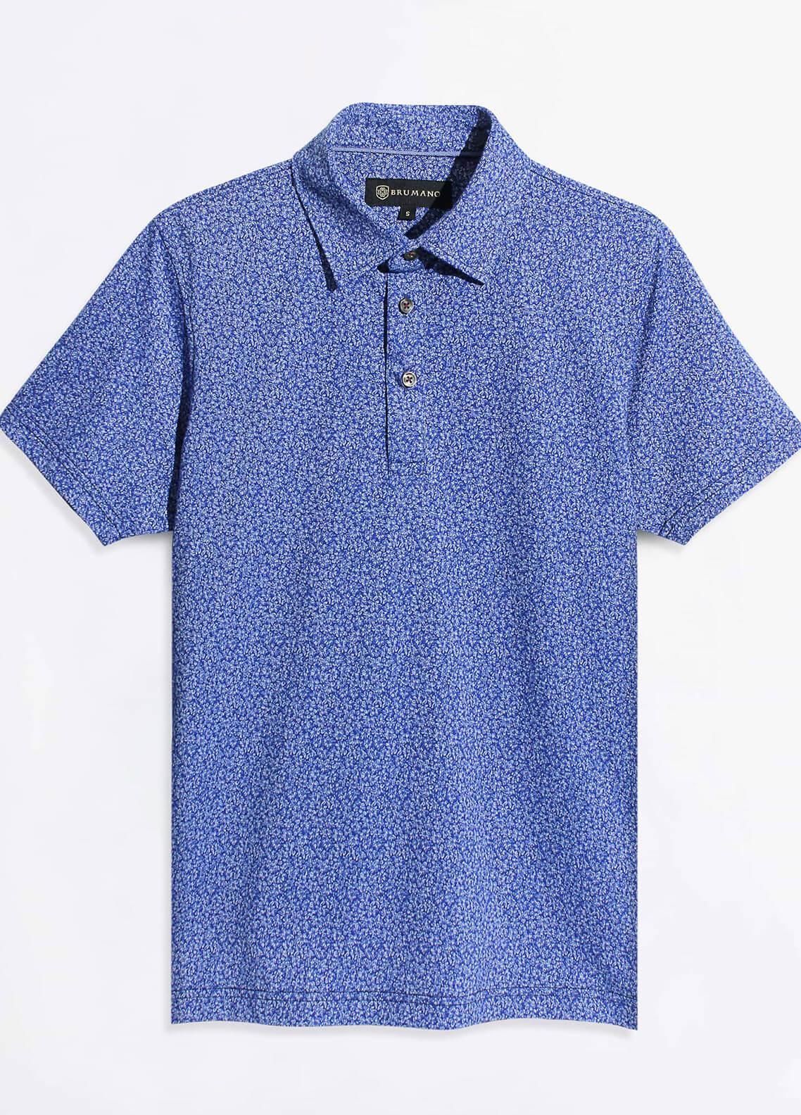 Brumano Cotton Polo Men Shirts - Blue BRM-977