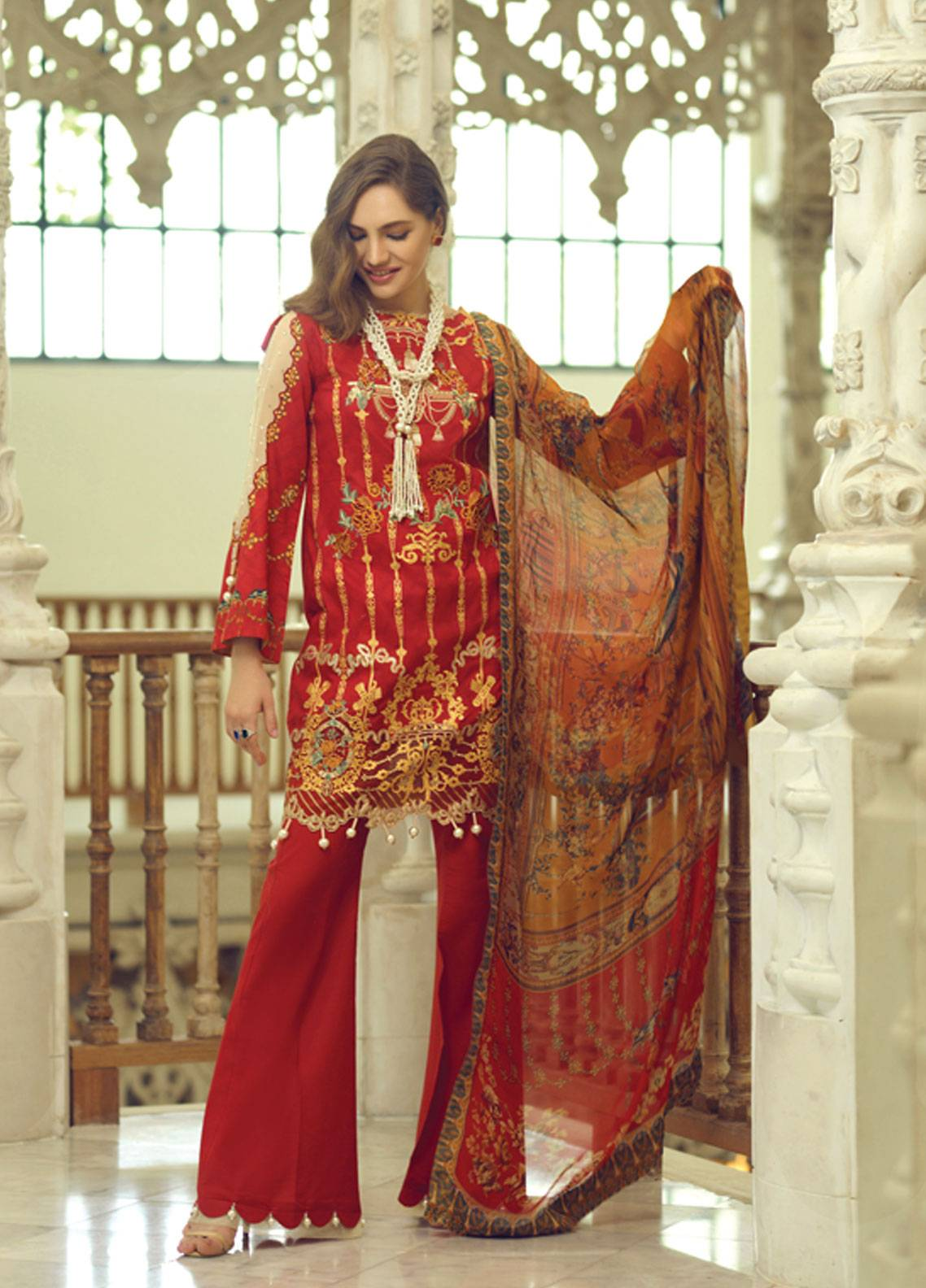 Rang Rasiya Carnation Embroidered Lawn Unstitched 3 Piece Suit RRC19L 702A - Spring / Summer Collection
