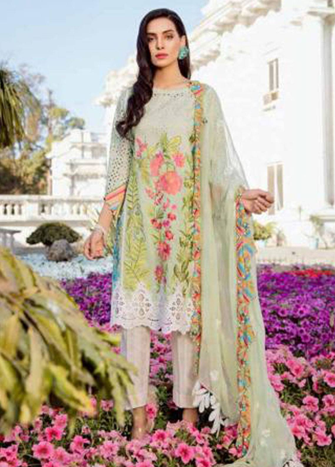 Charizma Embroidered Lawn Unstitched 3 Piece Suit CRZ19F ED-28 - Festive Collection