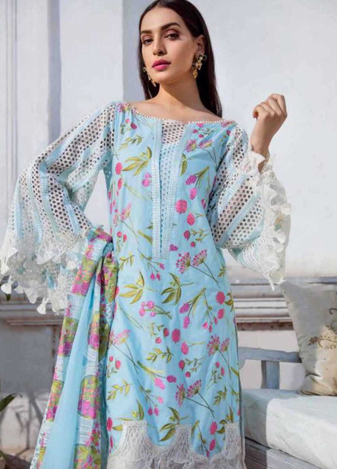 Charizma Embroidered Lawn Unstitched 3 Piece Suit CRZ19F ED-33 - Festive Collection