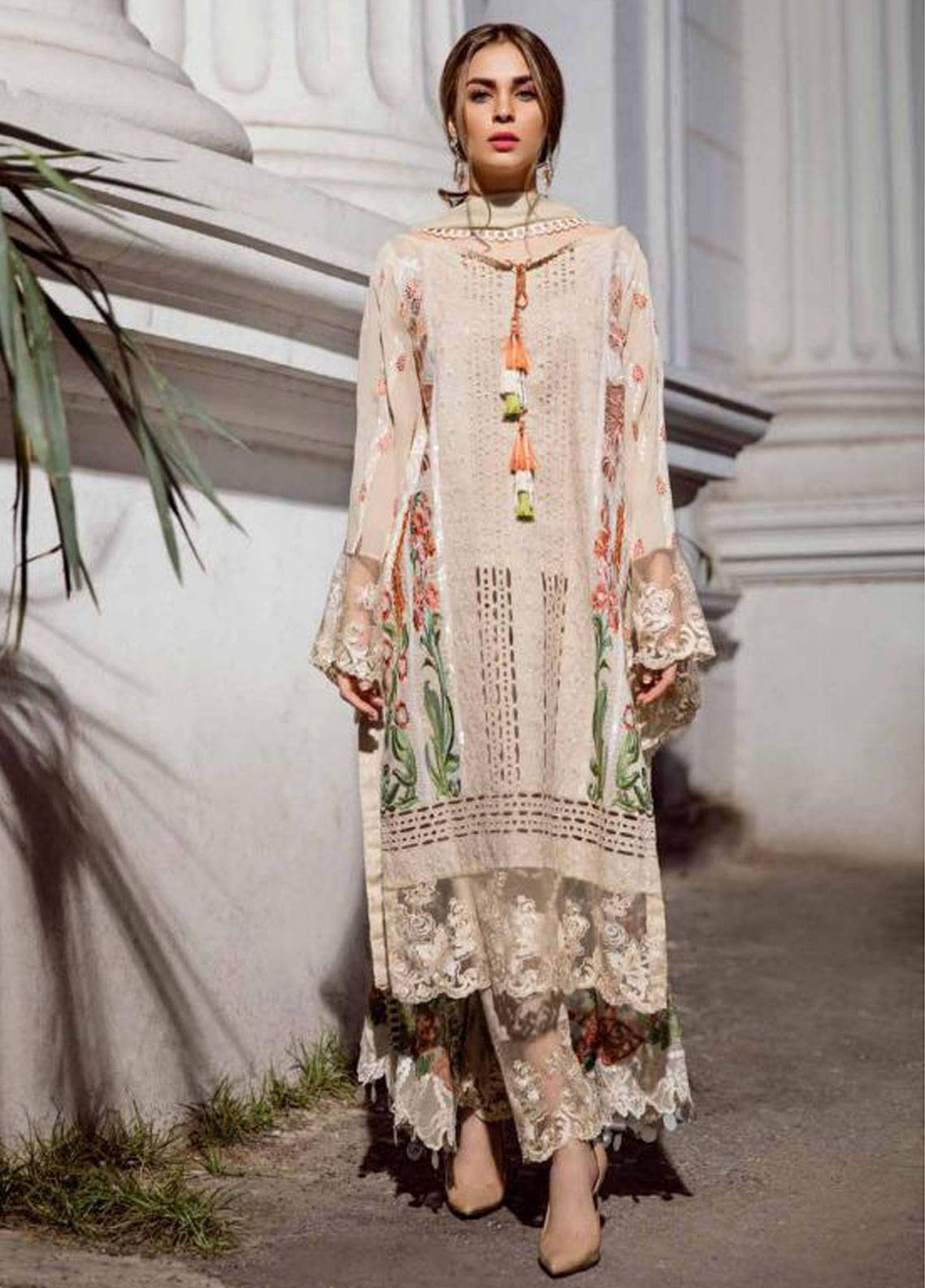 Charizma Embroidered Lawn Unstitched 3 Piece Suit CRZ19F ED-34 - Festive Collection