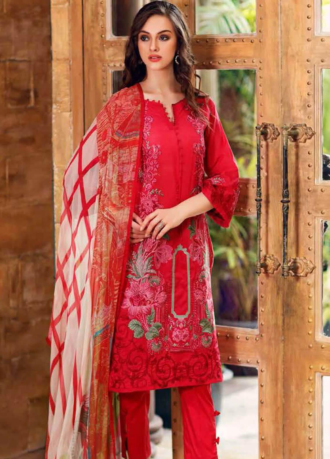 Charizma Embroidered Swiss Voile Unstitched 3 Piece Suit CRZ19-S3 24 - Eid Collection