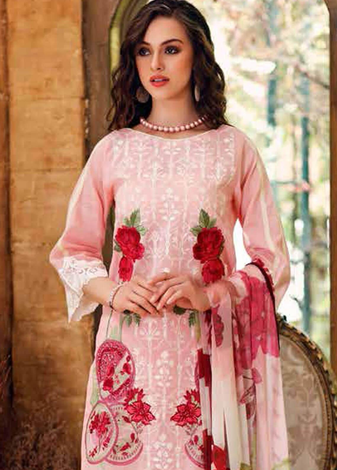 Charizma Embroidered Swiss Voile Unstitched 3 Piece Suit CRZ19-S3 26 - Eid Collection