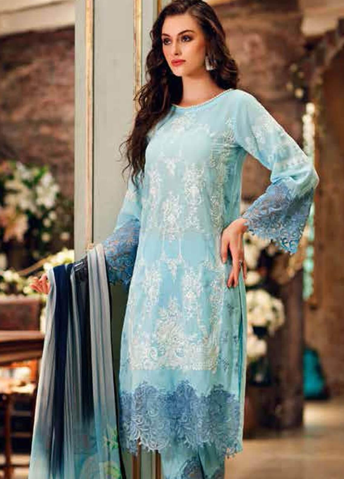 Charizma Embroidered Swiss Voile Unstitched 3 Piece Suit CRZ19-S3 27 - Eid Collection