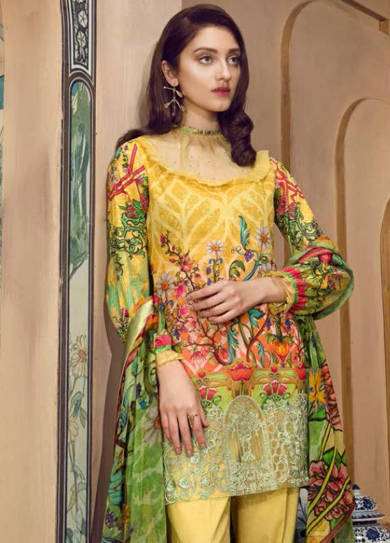 Coronation Embroidered Lawn Unstitched 3 Piece Suit CN18L 09 - Spring / Summer Collection