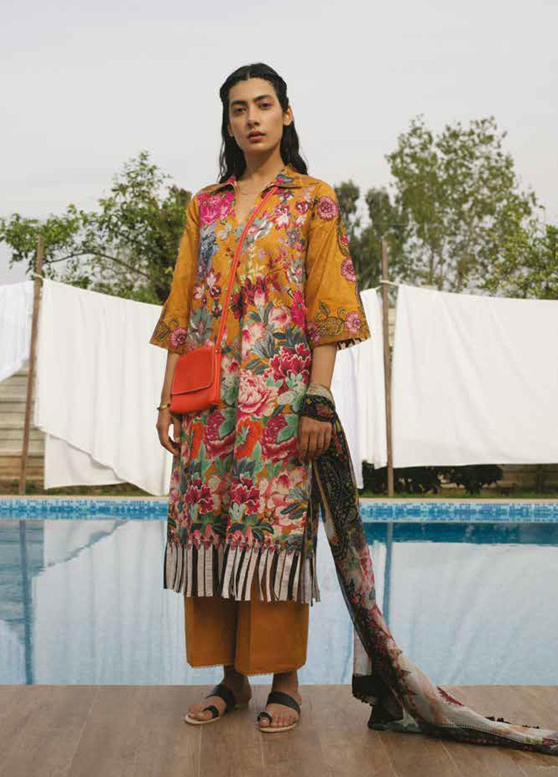 Coco by Zara Shahjahan Embroidered Lawn Unstitched 3 Piece Suit COC19L 10B - Spring / Summer Collection