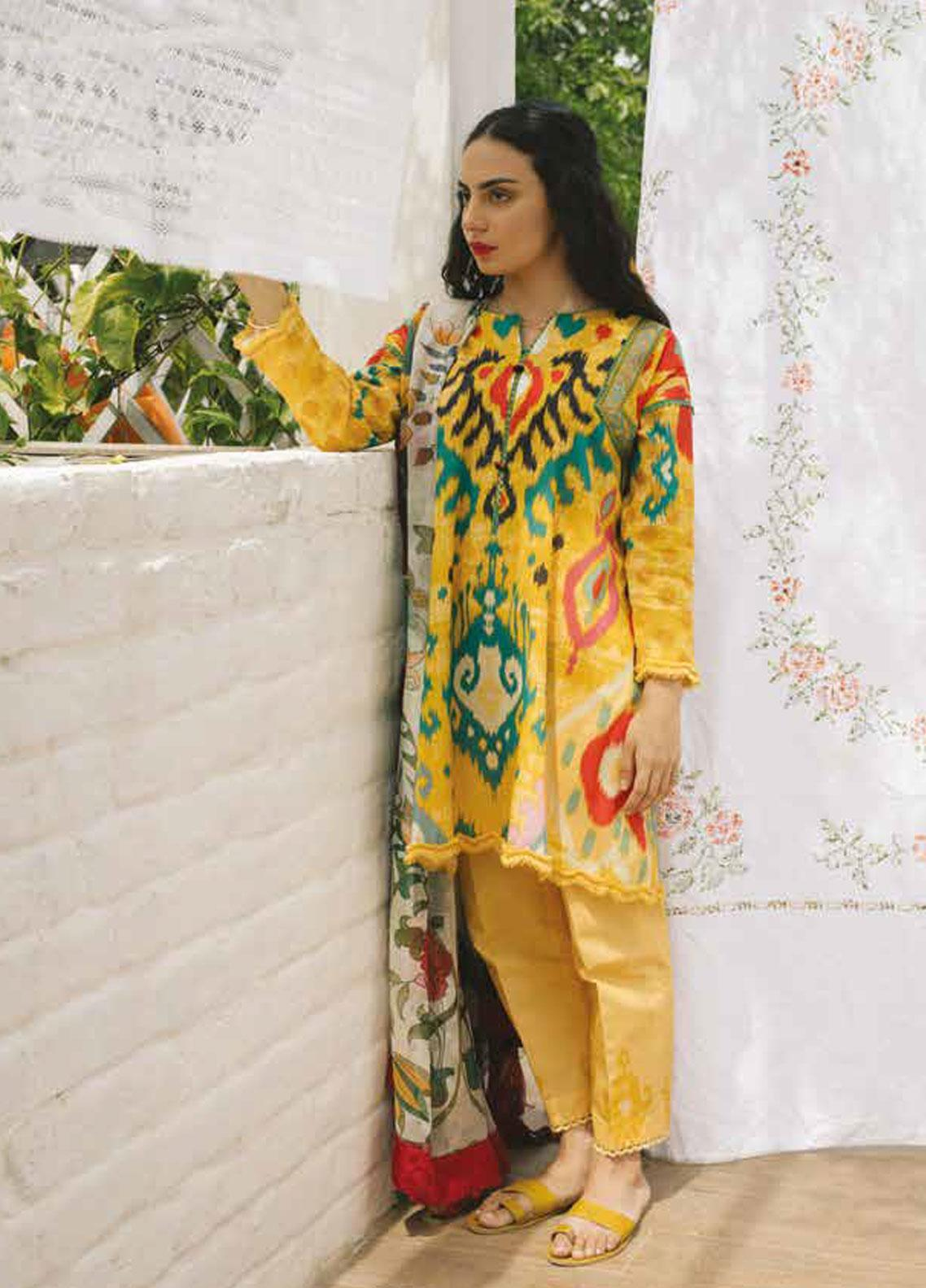 Coco by Zara Shahjahan Embroidered Lawn Unstitched 3 Piece Suit COC19L 1B - Spring / Summer Collection