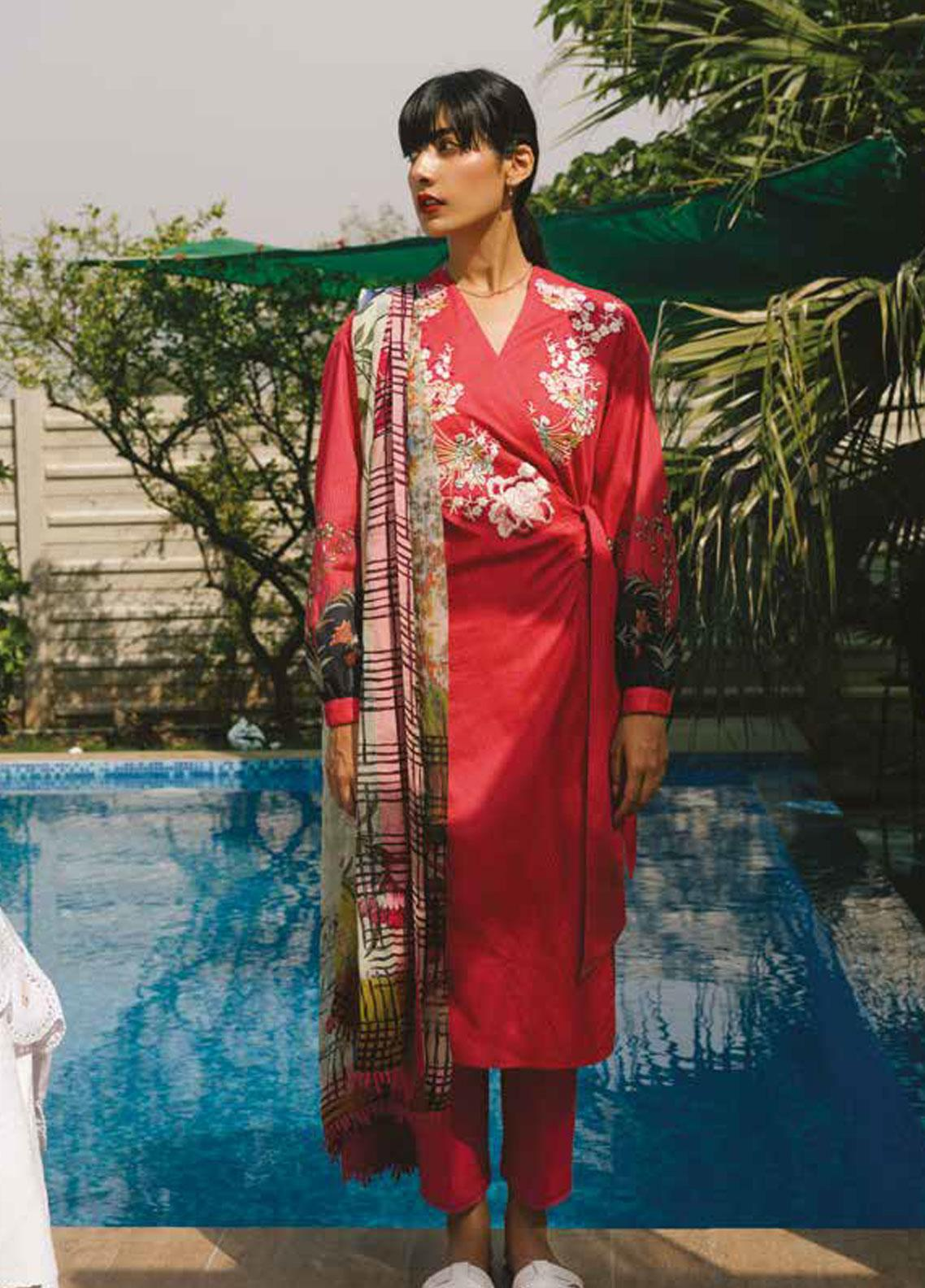 Coco by Zara Shahjahan Embroidered Lawn Unstitched 3 Piece Suit COC19L 3A - Spring / Summer Collection