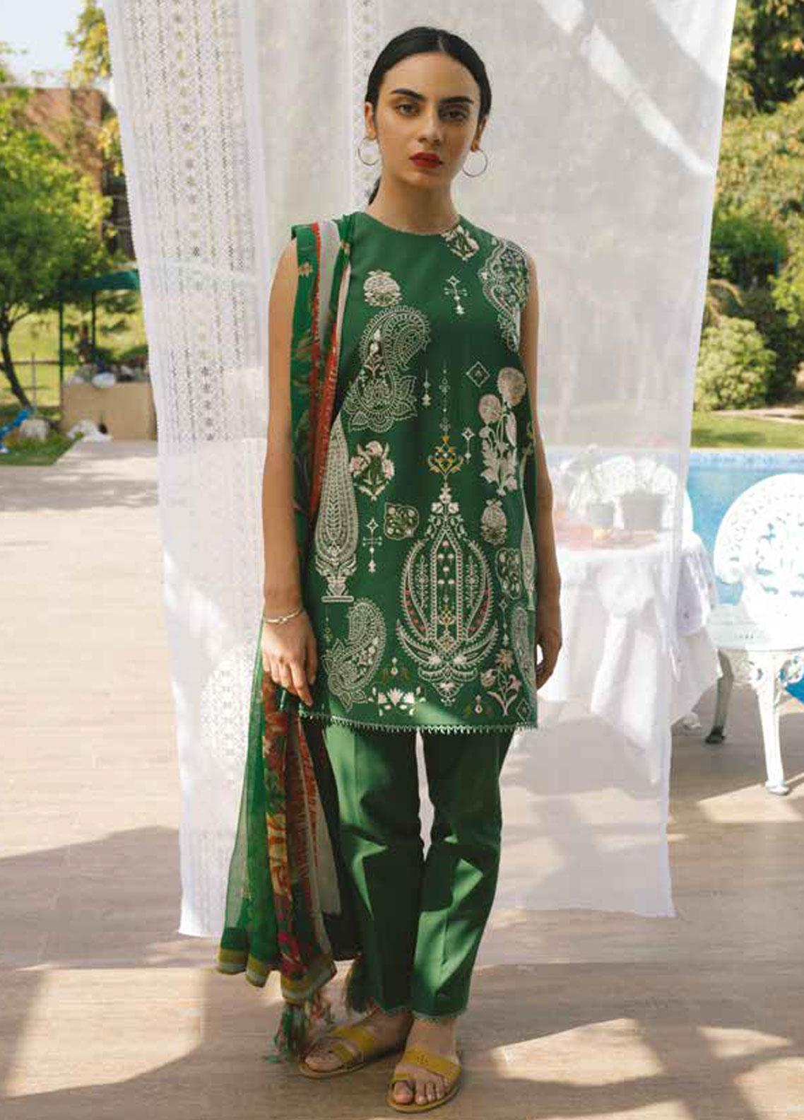 Coco by Zara Shahjahan Embroidered Lawn Unstitched 3 Piece Suit COC19L 4B - Spring / Summer Collection