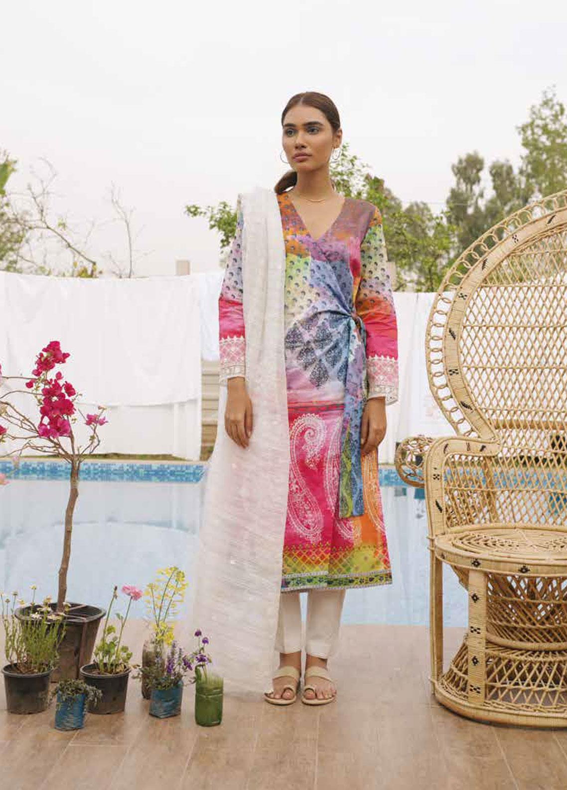 Coco by Zara Shahjahan Embroidered Lawn Unstitched 3 Piece Suit COC19L 8A - Spring / Summer Collection