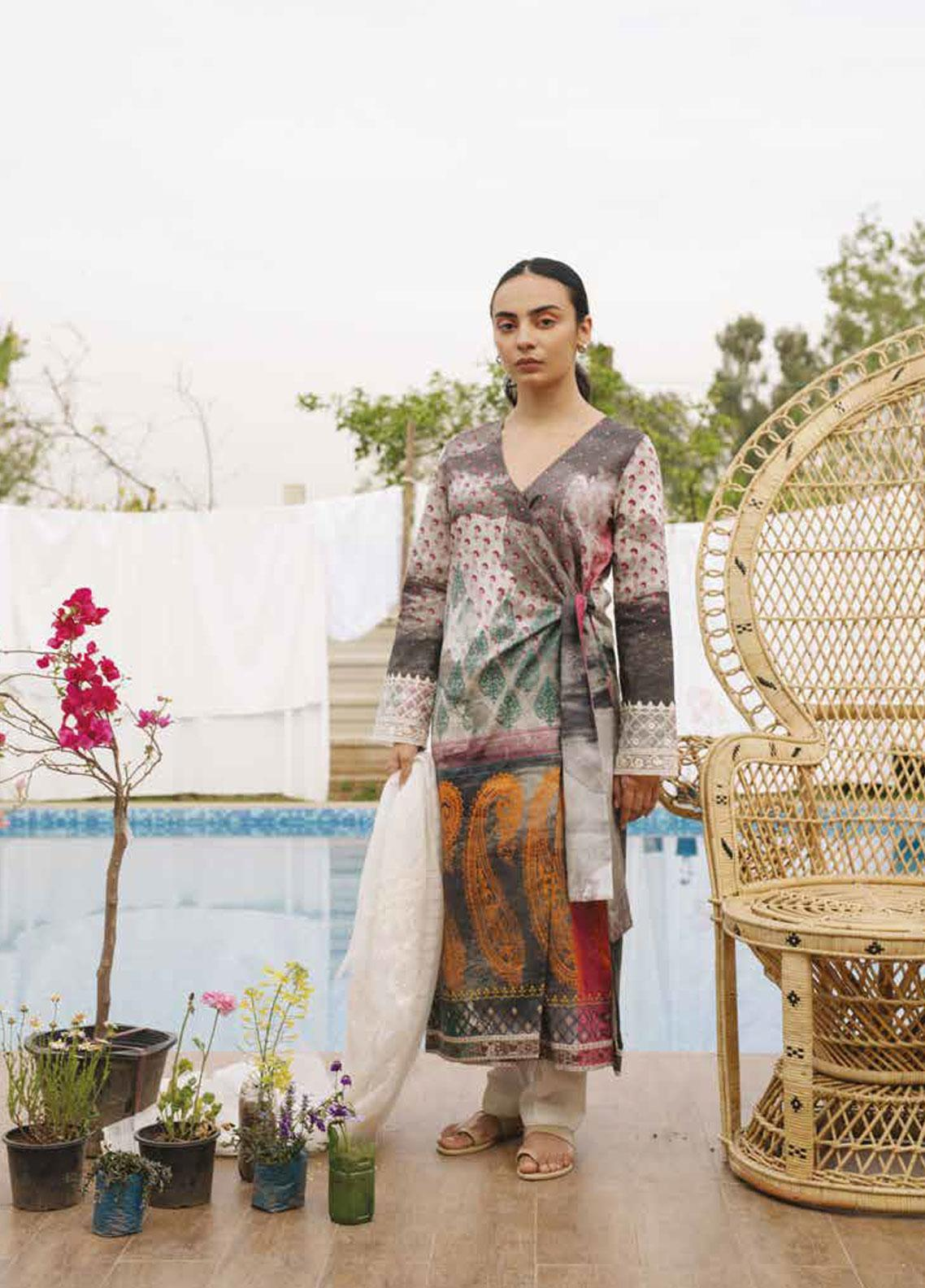 Coco by Zara Shahjahan Embroidered Lawn Unstitched 3 Piece Suit COC19L 8B - Spring / Summer Collection