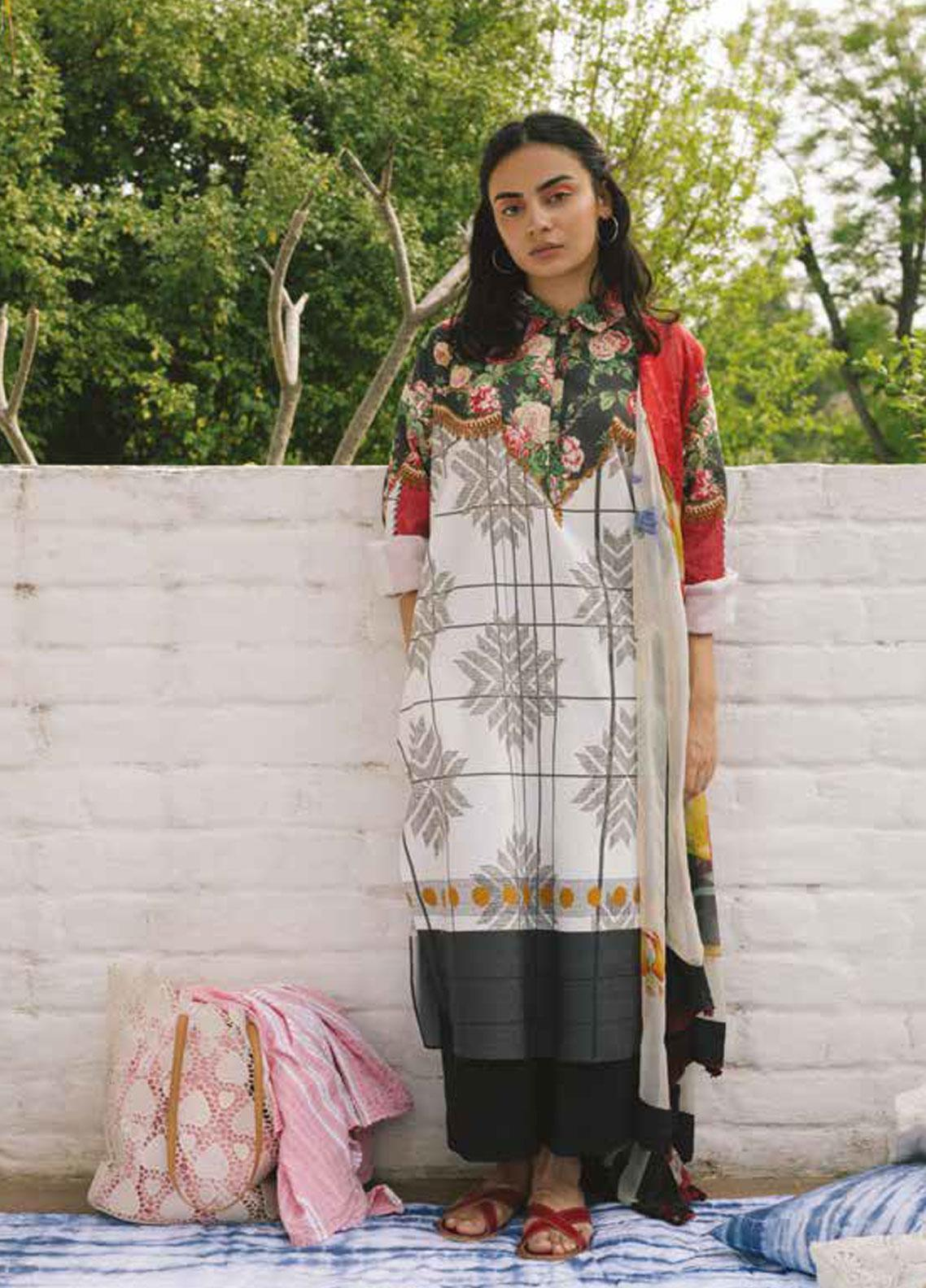 Coco by Zara Shahjahan Embroidered Lawn Unstitched 3 Piece Suit COC19L 9A - Spring / Summer Collection