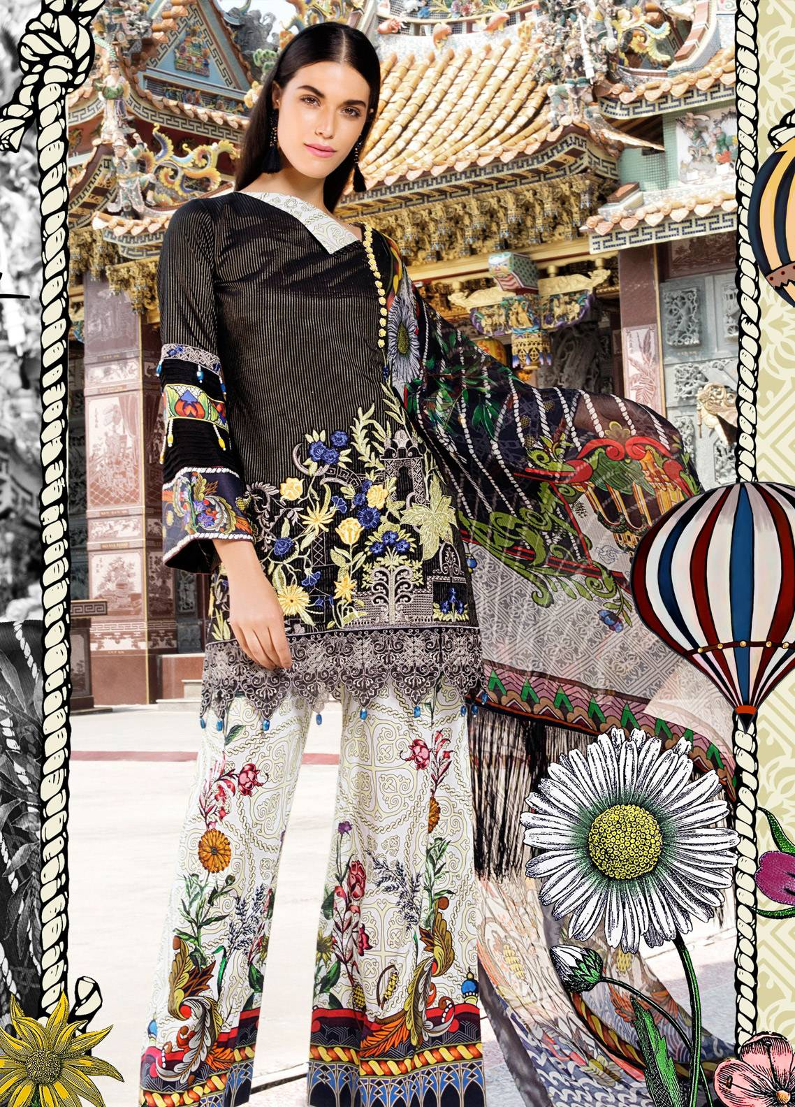 Coronation Embroidered Jacquard Unstitched 3 Piece Suit COR18E 03 - Festive Collection