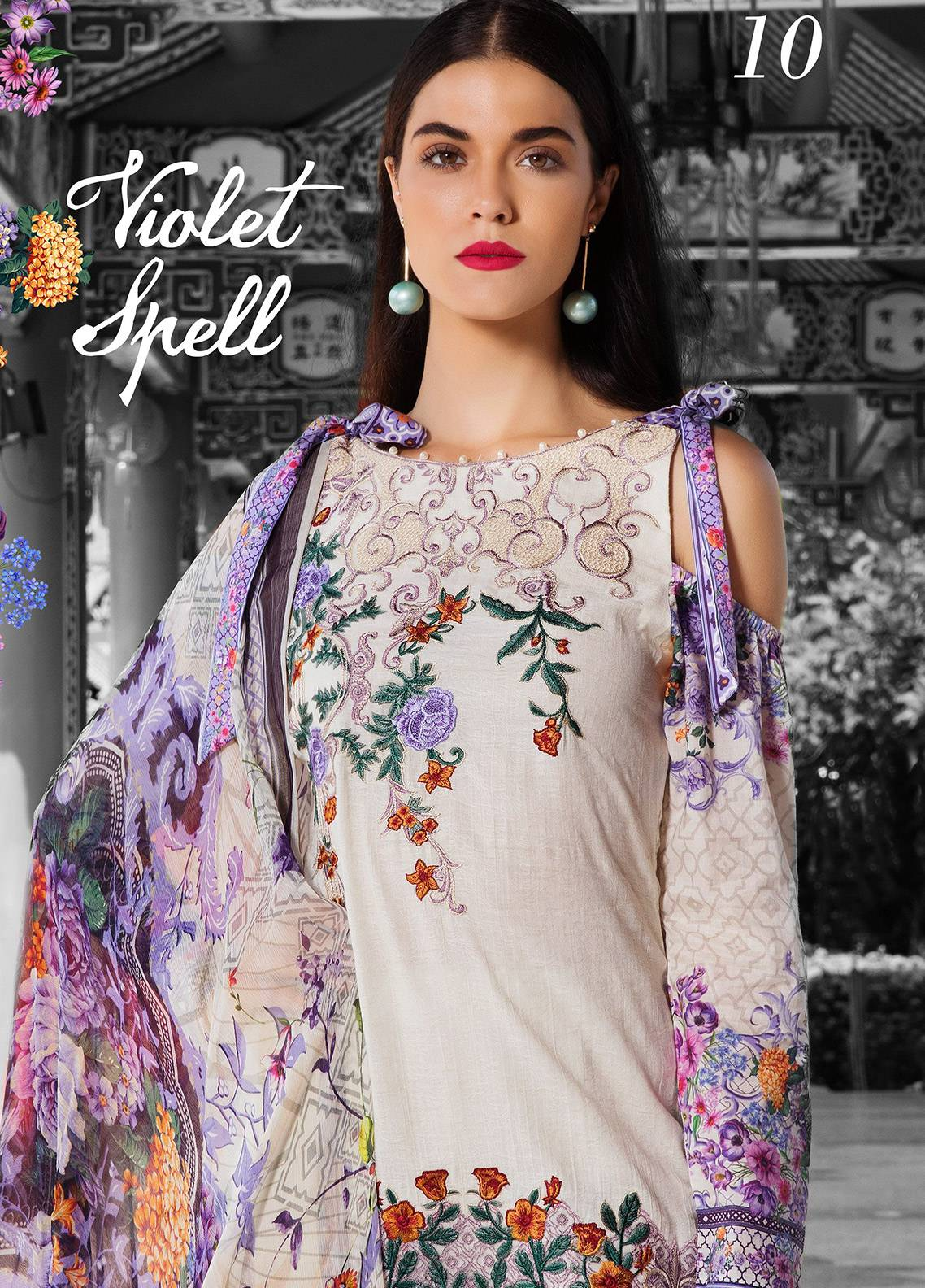 Coronation Embroidered Jacquard Unstitched 3 Piece Suit COR18E 10 - Festive Collection