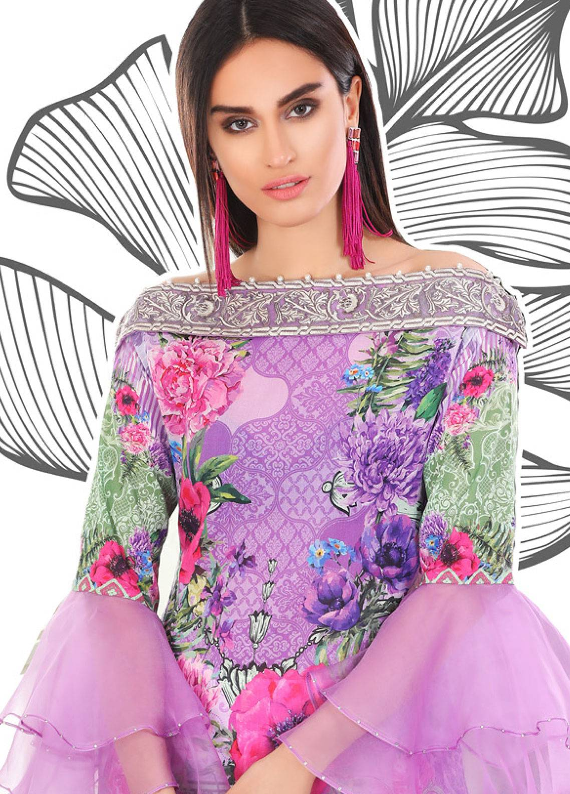 Coronation Embroidered Lawn Unstitched 3 Piece Suit COR18L 06 - Spring / Summer Collection