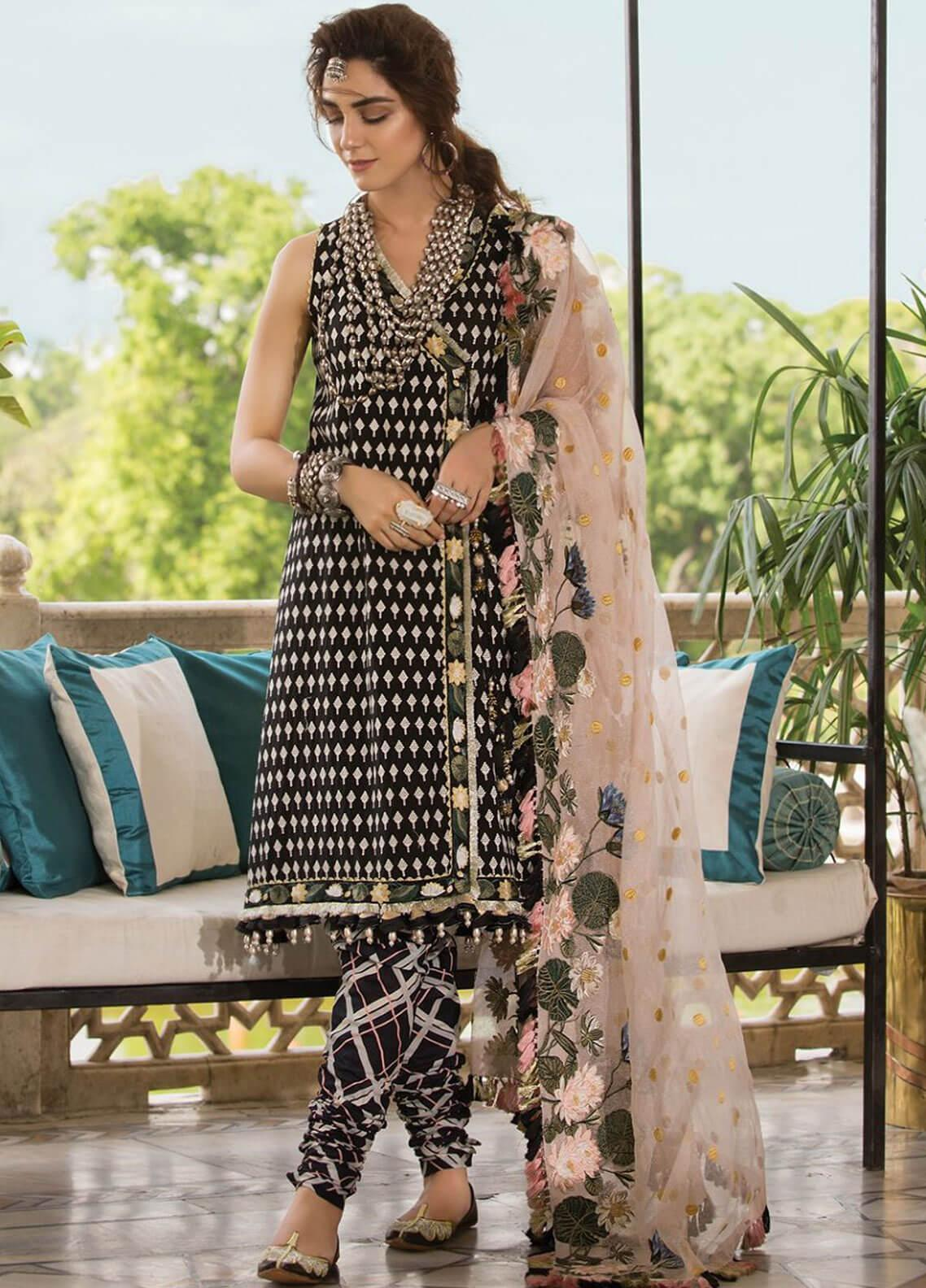 Crimson Embroidered Lawn Unstitched 3 Piece Suit CRM19F 4A AVANT GARDE - Festive Collection