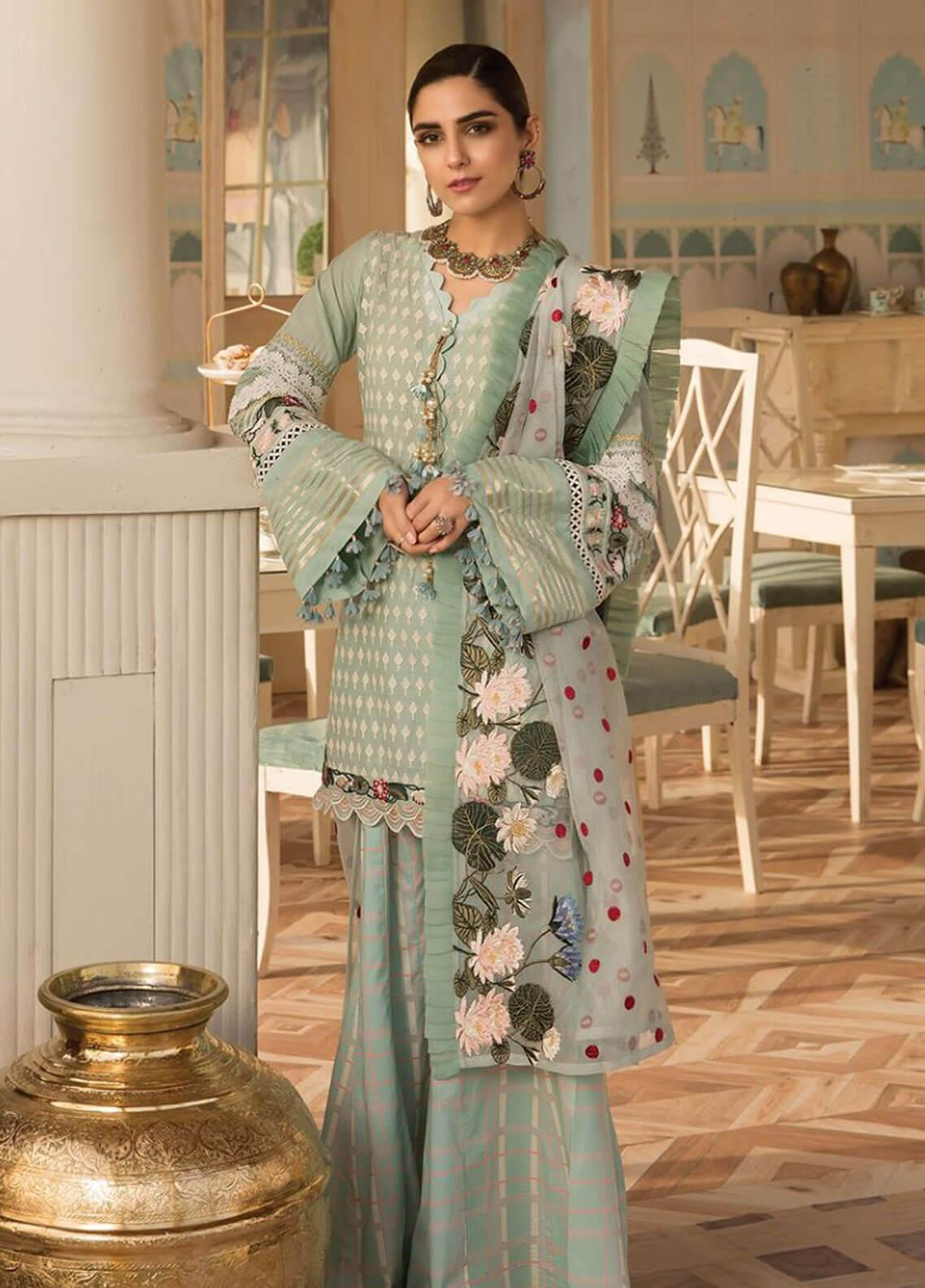 Crimson Embroidered Lawn Unstitched 3 Piece Suit CRM19F 4B AVANT GARDE - Festive Collection