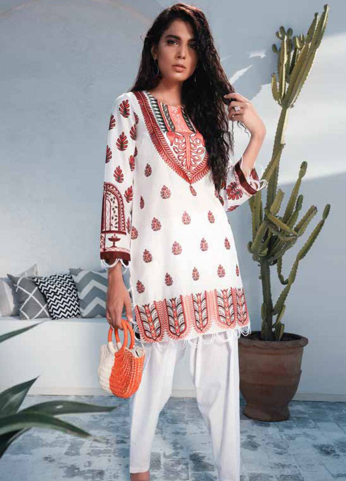 Cross Stitch Embroidered Lawn Unstitched 2 Piece Suit CS19-L2 15 AZURE LAKE - Spring / Summer Collection