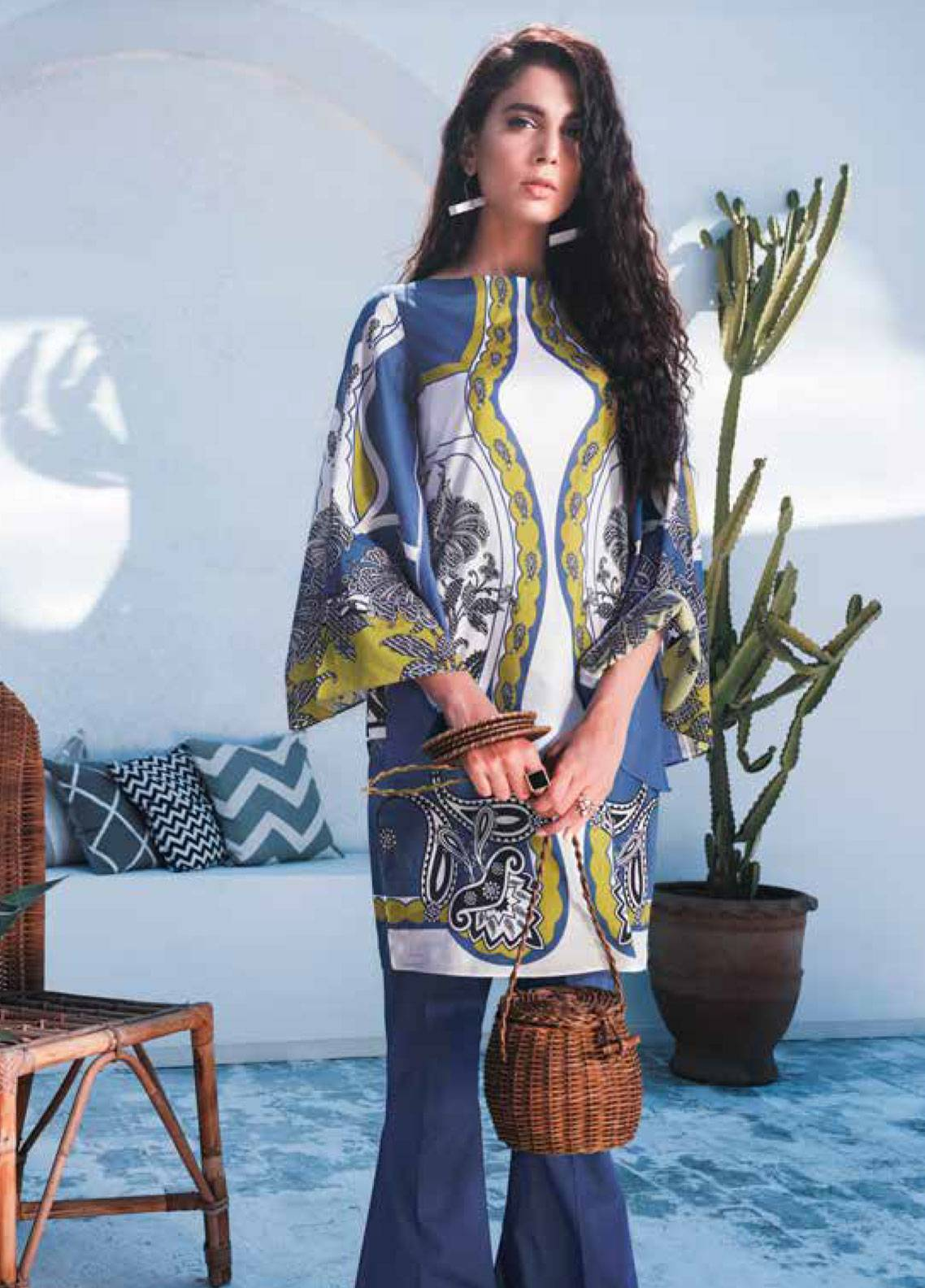Cross Stitch Printed Lawn Unstitched 2 Piece Suit CS19-L2 18 URBAN SPRUCE - Spring / Summer Collection