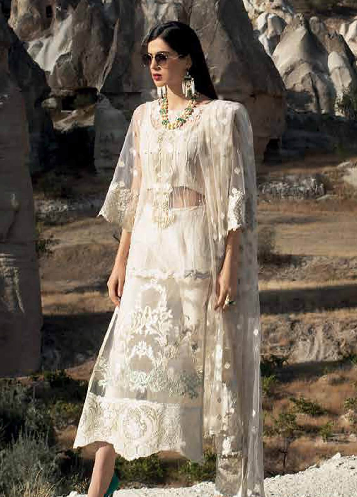 b6820e3f005e Zainab Chottani Embroidered Zari Net Unstitched 3 Piece Suit ZC18F 05 -  Luxury Formal Range