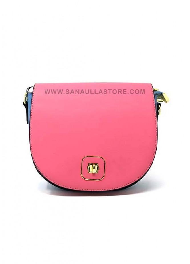 Susen PU Leather Satchels Handbags for Women - Pink with Plain Design
