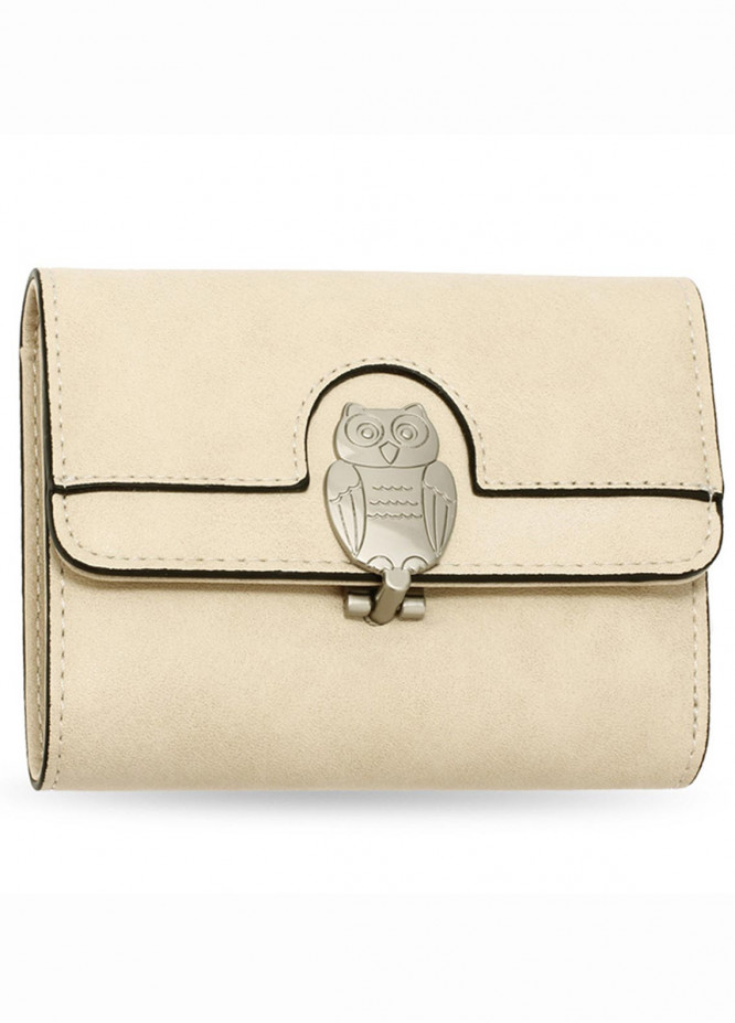 Anna Grace London Faux Leather Wallet   for Women  Nude with Smooth Texture|Grainy