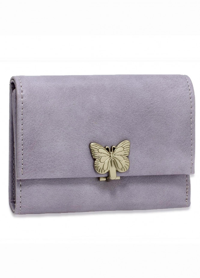 Anna Grace London Faux Leather Wallet   for Women  Purple with Smooth Texture|Grainy
