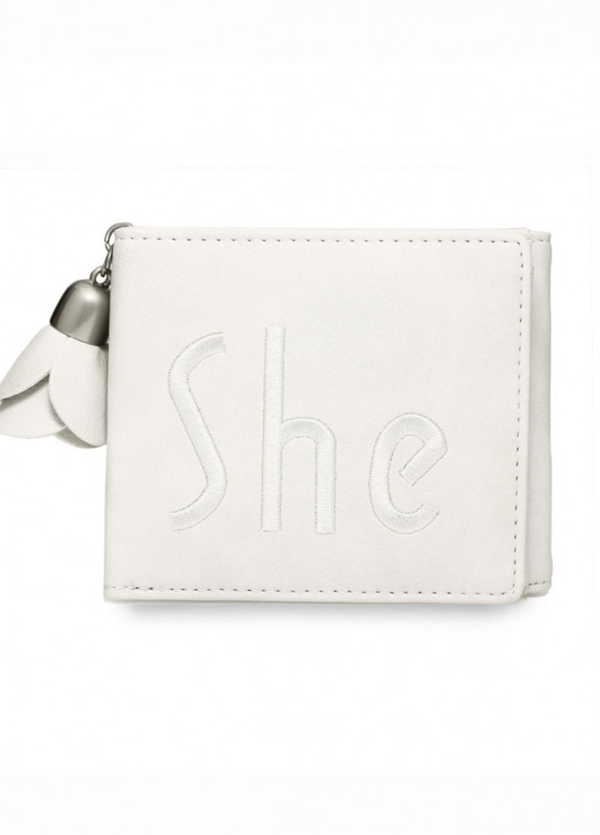 Anna Grace London Faux Leather Wallet   for Women  Ivory with Smooth Texture|Grainy