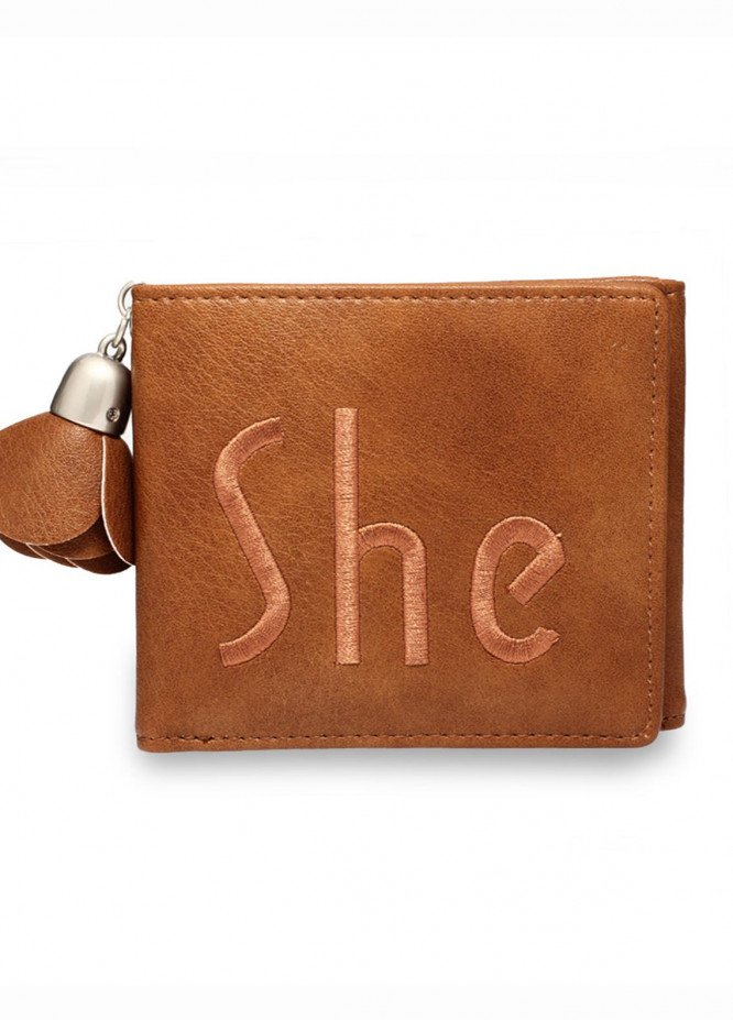 Anna Grace London Faux Leather Wallet   for Women  Tan with Smooth Texture|Grainy