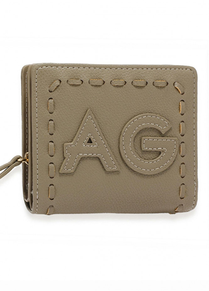 Anna Grace London Faux Leather Wallet   for Women  Grey with Smooth Texture|Grainy