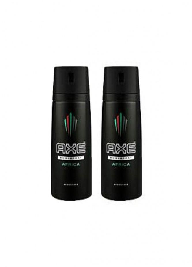 AXE Axe Africa Black Pack of 2 men's body spray