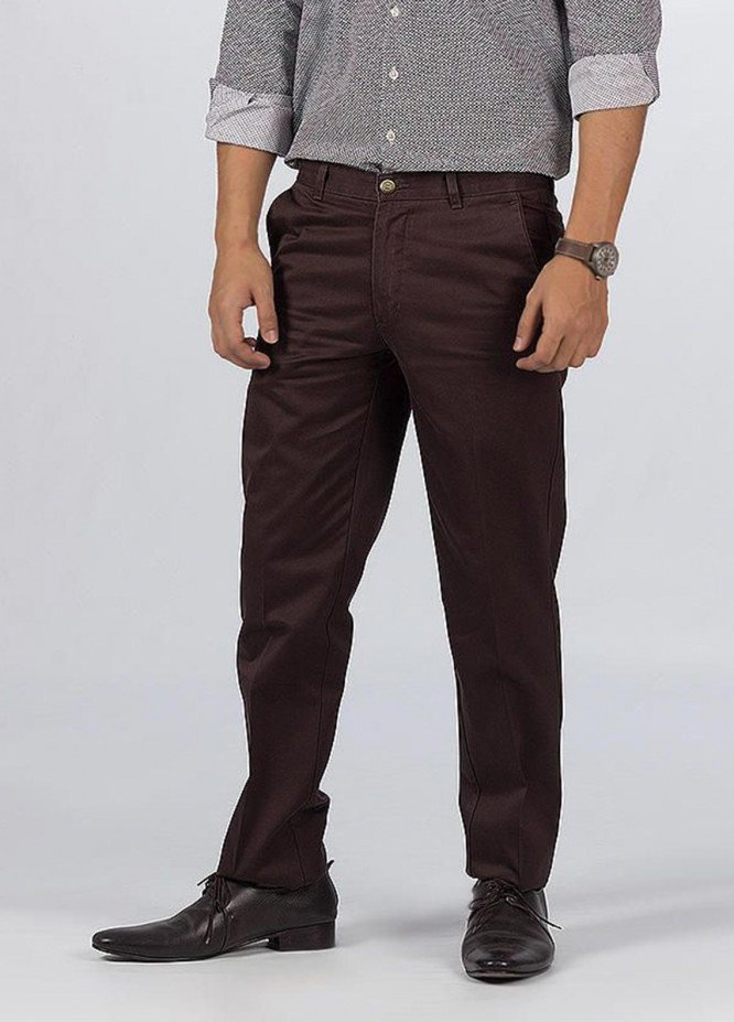 Bien Habille Cotton Ironeezee Trouser for Men -   Comfort Fit Capuccino