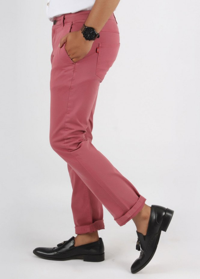 Bien Habille Cotton Casual Jeans for Men -  Tea Rose