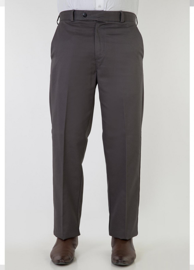 Bien Habille Cotton No-Iron Trouser for Men -  Comfort Fit Classic Grey