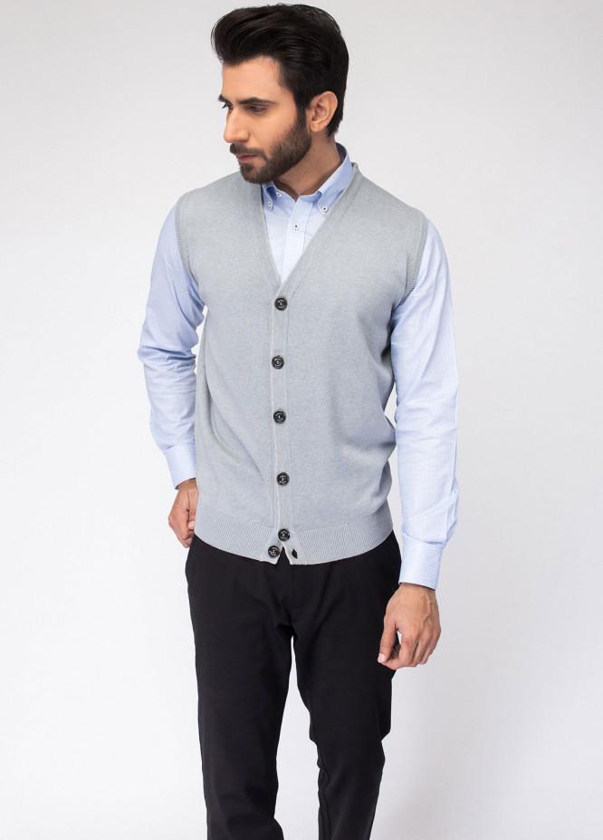 Brumano Cotton Button Men Cardigans - Blue BRM-23-875