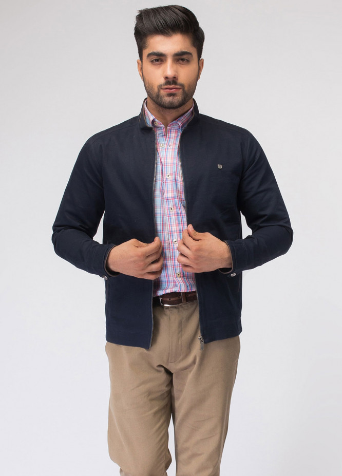 Brumano Cotton Full Sleeves Jackets for Men - Navy Blue BRM-11-0016