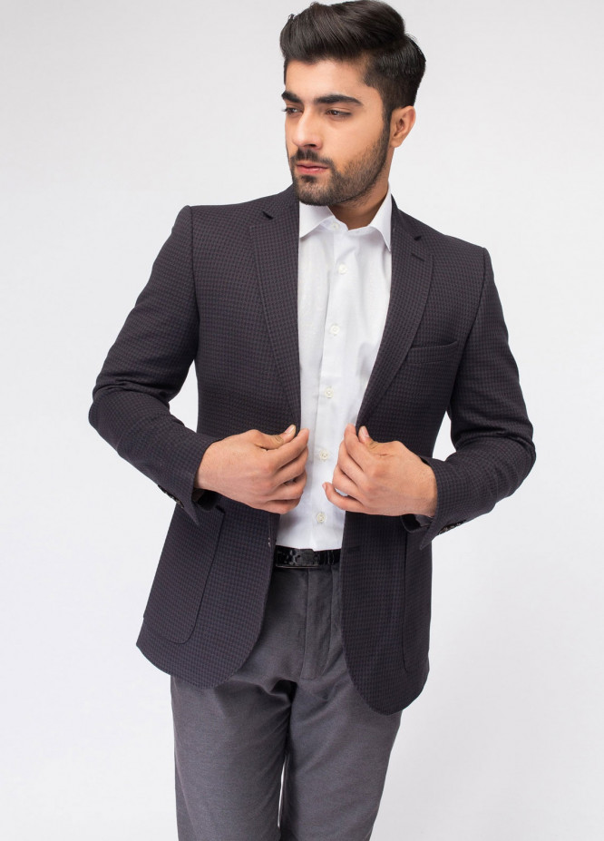 Brumano Cotton Casual Blazer for Men - Grey BLZ-507