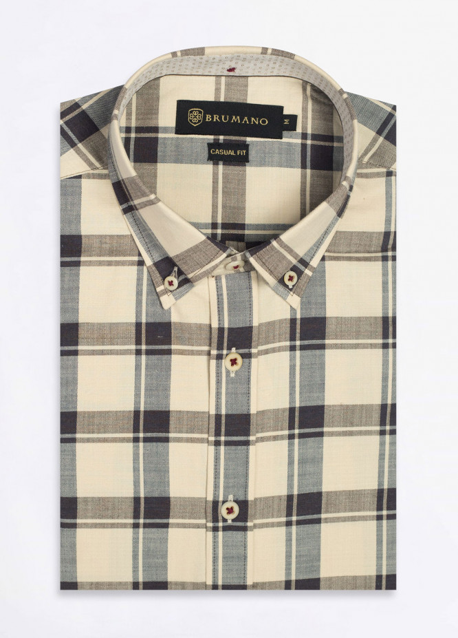 Brumano Cotton Formal Shirts for Men - Brown BRM-510